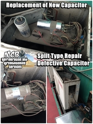Thumb aircon repair capacitor replacement split type aircon