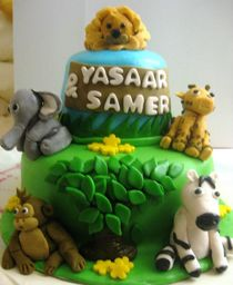 Thumb safari cake