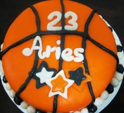 Thumb basketball cake