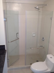 Thumb clear frameless glass modern shower