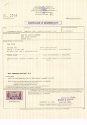 Thumb cert. of reg.