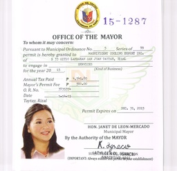 Thumb mayor permit